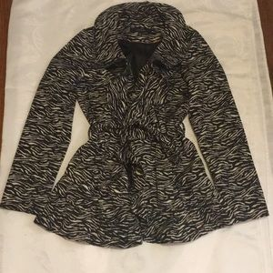 Lady's Sandro Studio poly tech zebra jacket